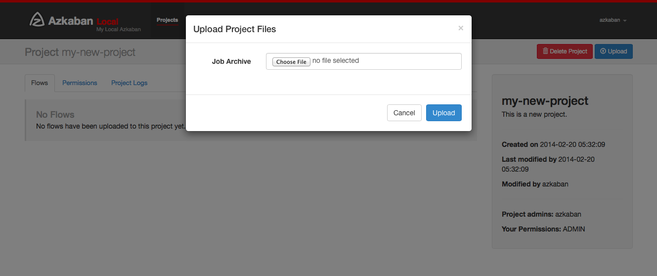 uploadprojects